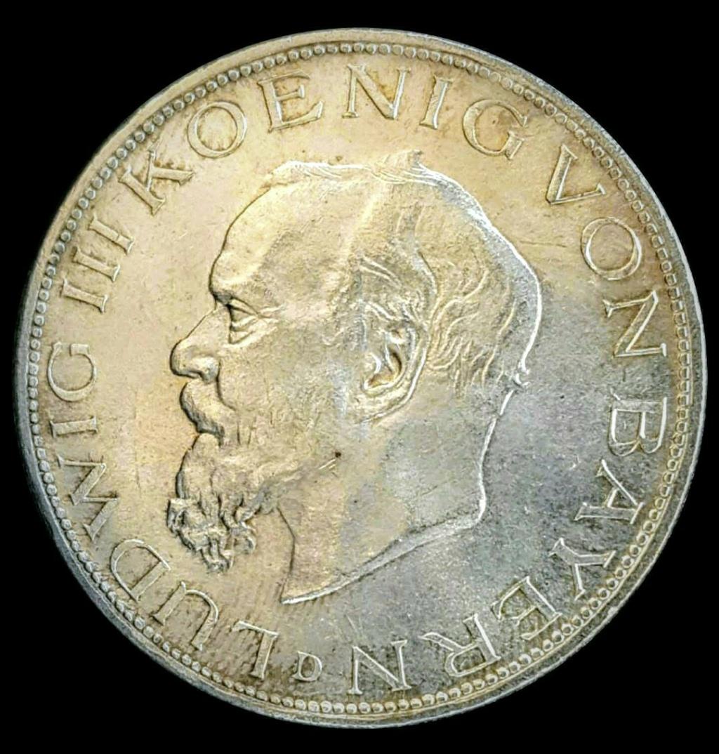 Imperio Alemán, Baviera: 5 Marcos 1914 D, Luis Screen62