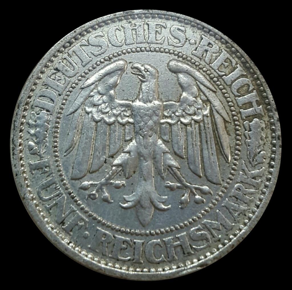 República de Weimar: 5 Reichsmark 1927 A Screen71