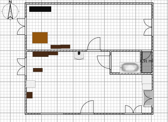 Passages des fils/gaines Plan_210