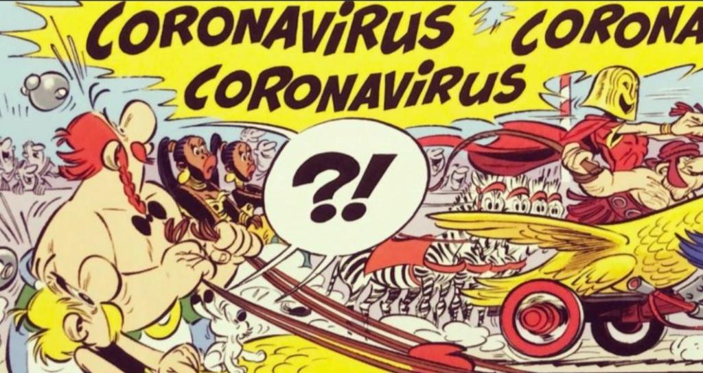 """Annonces pour le prochain album """"Astérix et le griffon"""" octobre 2021 Corona11"""