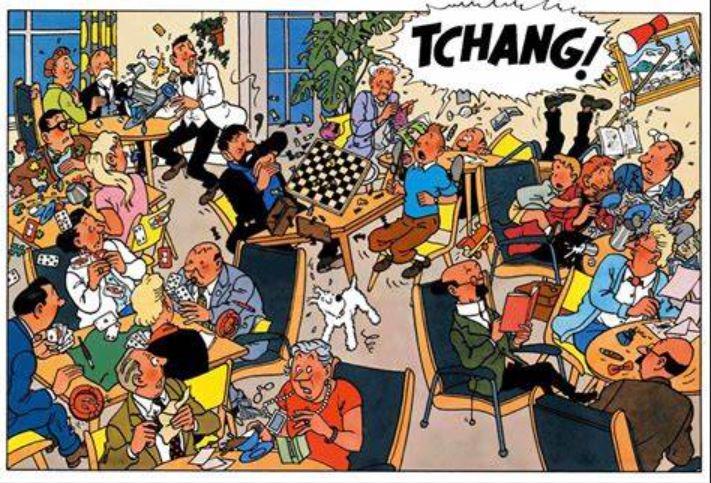 Astérix 39:  la nouvelle planche ! Tintin10