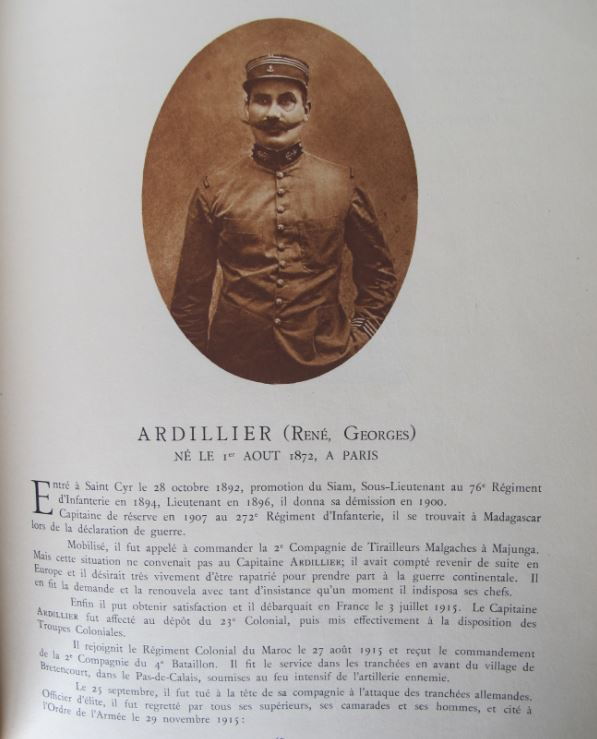 Uniforme capitaine du RICM en 1915  20190814