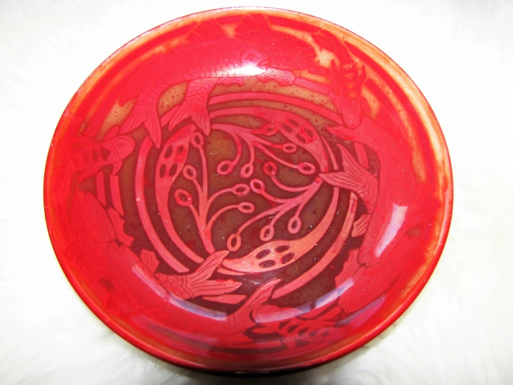 Mah red flambe lustre Arts & Crafts bowl      Imgfis13
