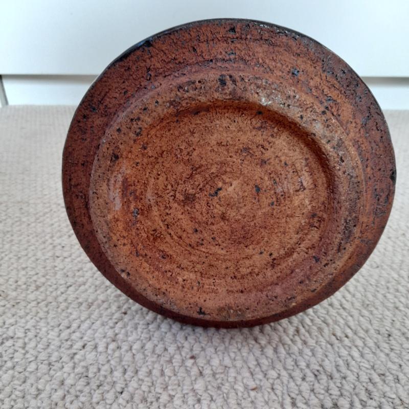 Stoneware Brutalist style vase RWB mark CP York  20210419