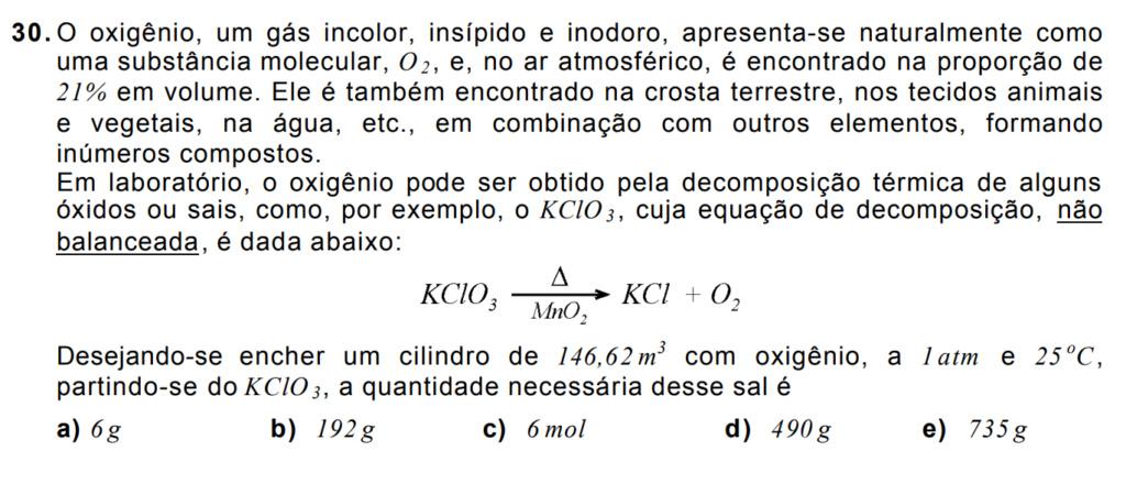 Estequimetria e cálculos químicos  310