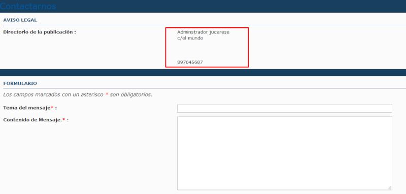 Ahora es posibe personalizar el formulario de contacto Igzo4b10