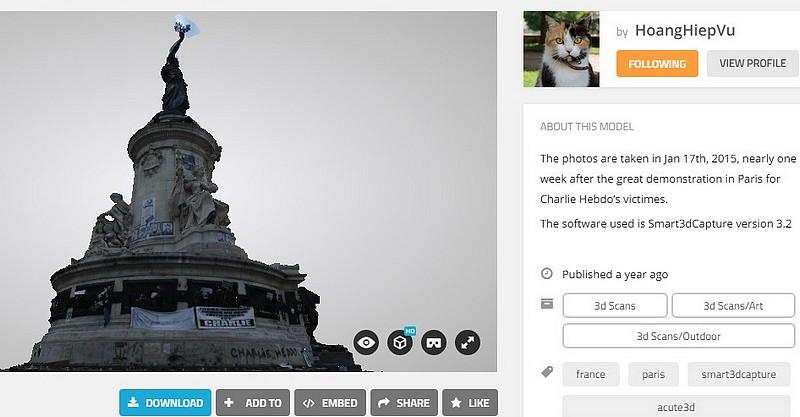 Une vie de statue (Paris, place de la République) Monume10