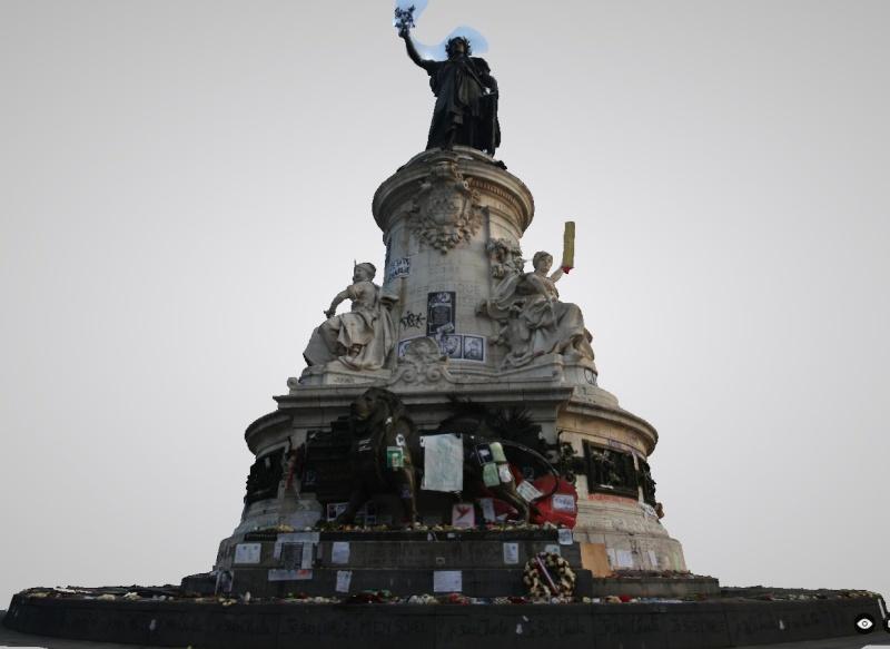 Une vie de statue (Paris, place de la République) Monume11