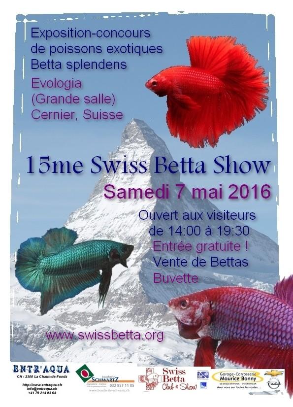 15me Swiss Betta Show du 6 au 8 mai 2016 Affich11