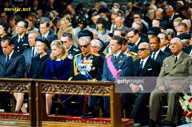 Bourguiba lors des obsèques du Général et Président, Dwight David EISENHOWER 12977111