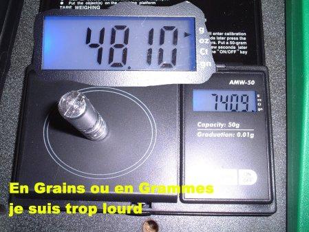 Régularité poids de balles Fil33211