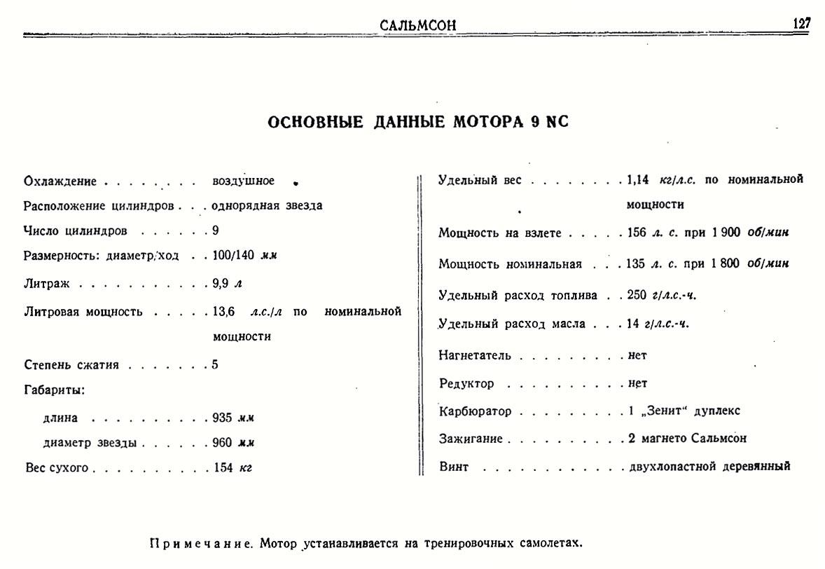 doc sur moteur salmson T210