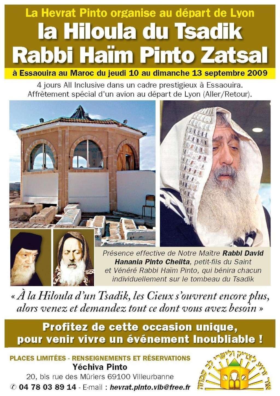 RABBI HAIM PINTO A GADOL DE MOGADOR Affich10