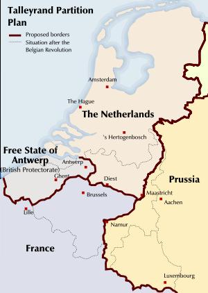 Plan de partage de la Belgique de Talleyrand 110