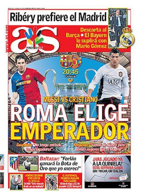 Finale 2009 :  FC Barcelone-Manchester Utd Portad10