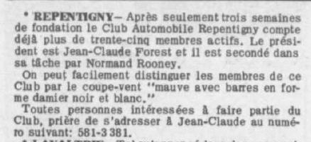 Les vieux club de char au Québec - Page 3 Clubca10