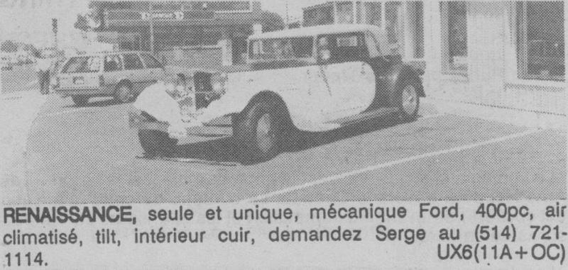 Les Québecois Grand Amateurs de Kit Car - Page 6 Renais10