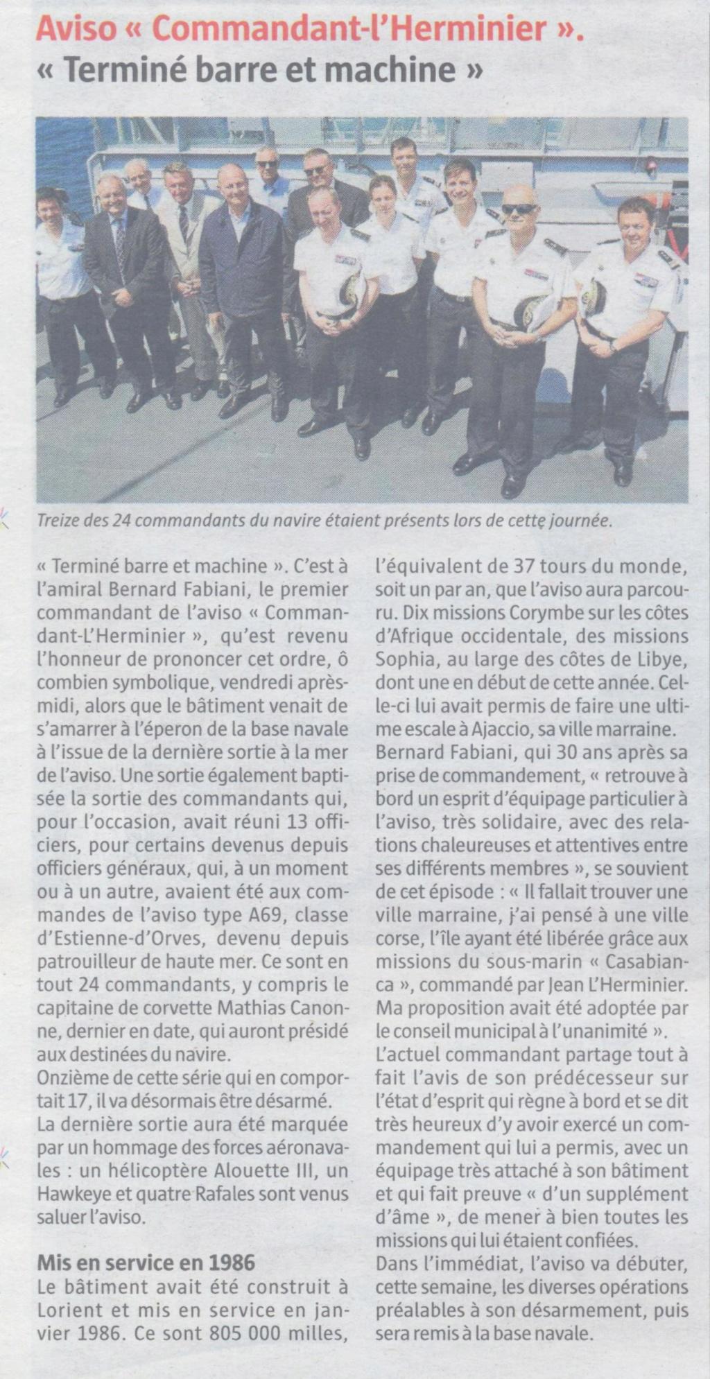 COMMANDANT L'HERMINIER (AVISO) - Page 2 Hermin10