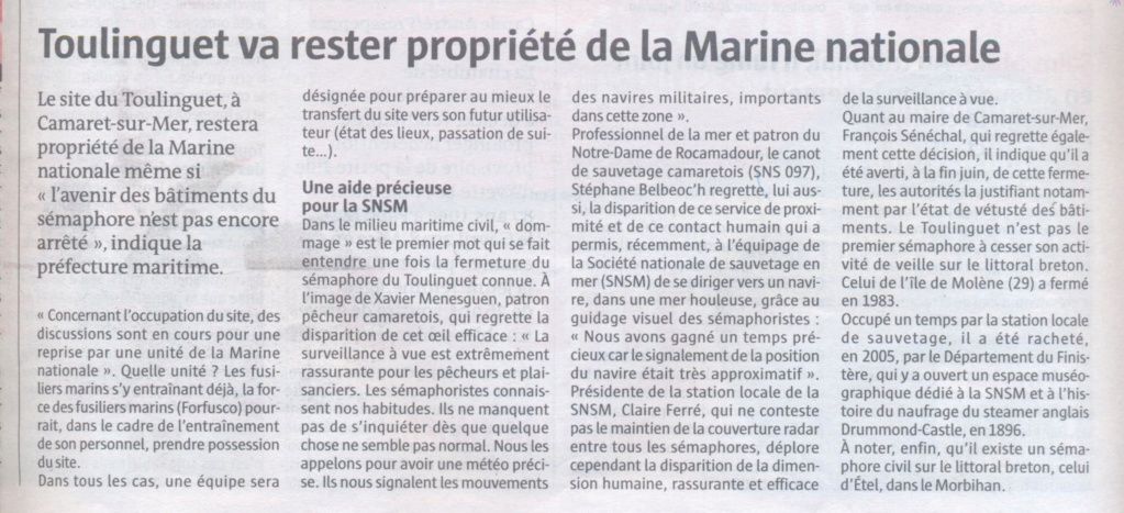 SÉMAPHORE - LE TOULINGUET  - PRESQU'ÎLE DE CROZON (FINISTÈRE) - Page 2 Sema_210