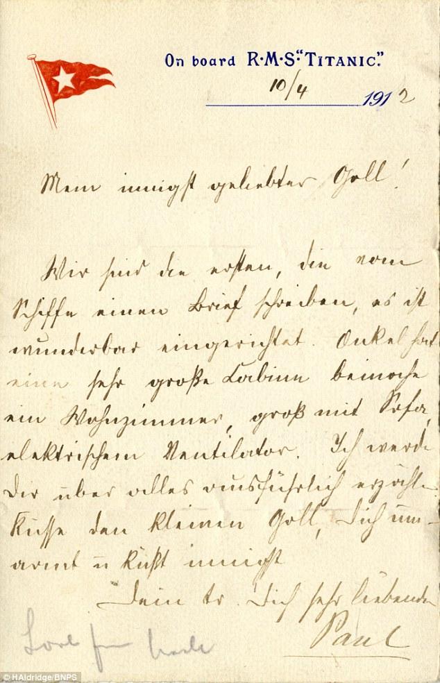 L'une des premières lettres du Titanic vendue aux enchères 32f6a710