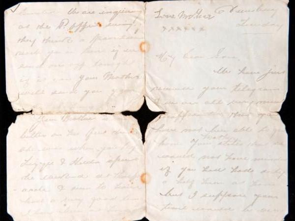 Correspondance entre Wallace Hartley et ses parents 95987611