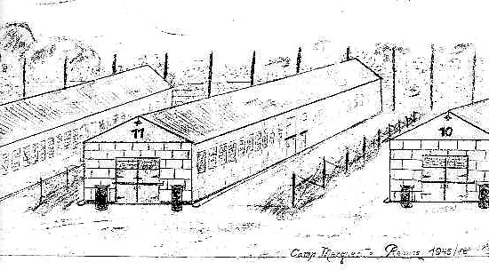 camp de prisonnier à Rennes Dessin10