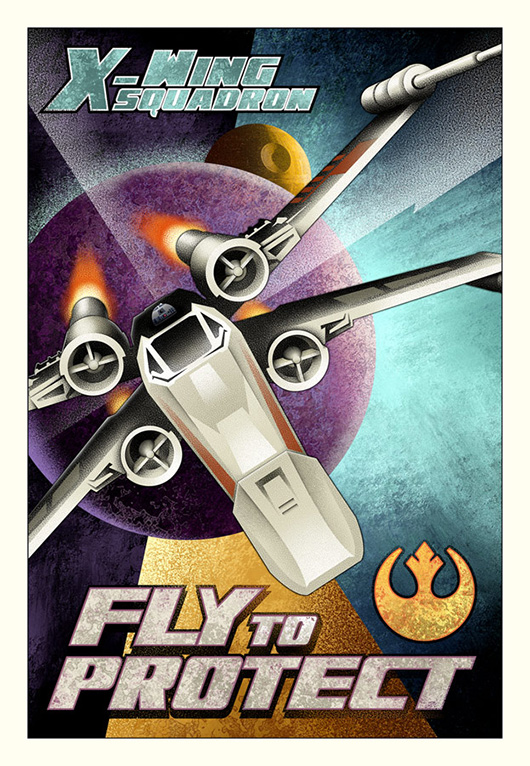 Artwork Star Wars - ACME - Fly to Protect Swanh411