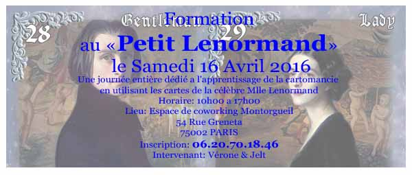 Formation oracle de Mlle LENORMAND Atelie10