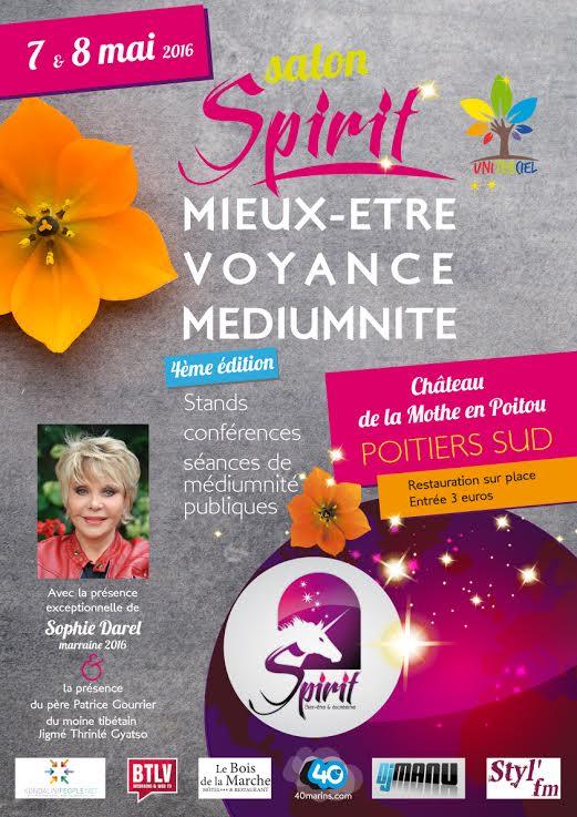 SALON SPIRIT POITIERS SUD – Mieux-Être, Médiumnité 7 & 8 mai 2016 Poitie10