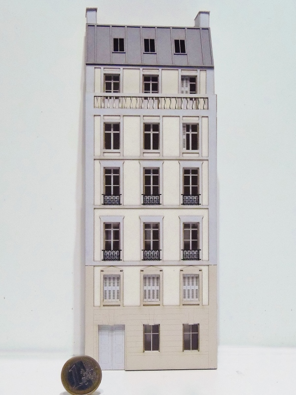 [Architecture & Passion] SERIE D'IMMEUBLES fond de décor 1/87 87vil113