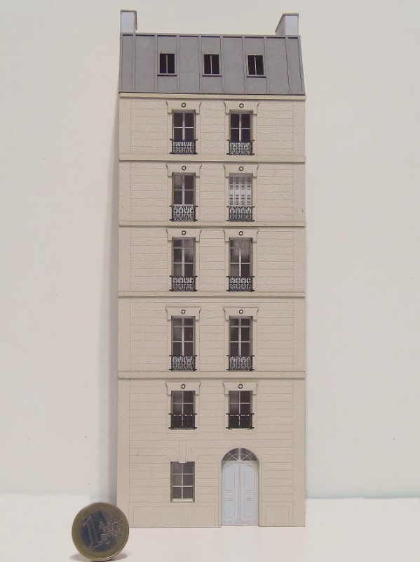[Architecture & Passion] SERIE D'IMMEUBLES fond de décor 1/87 87vil118