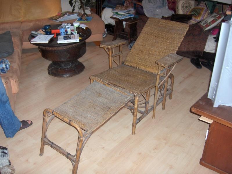 une chaise longue en rotin. Black Bedroom Furniture Sets. Home Design Ideas