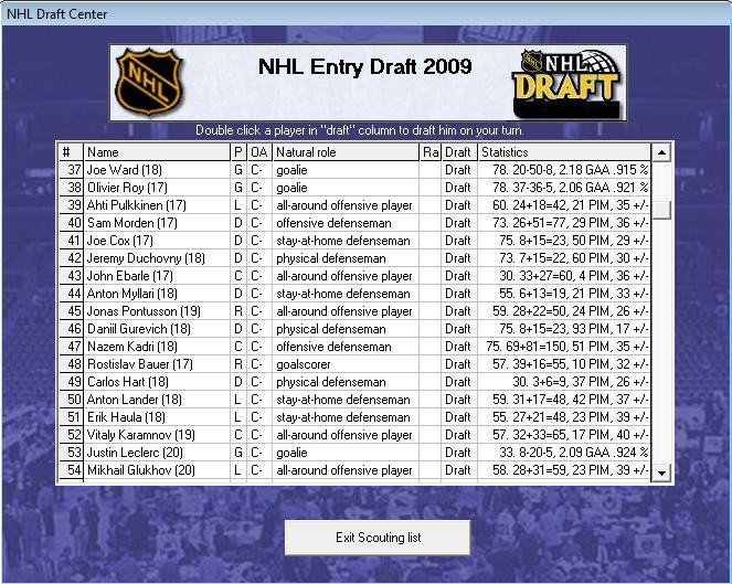 Draft off-season 7-8 Draft310