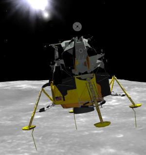 20 Juillet 1969 - L'Homme sur La Lune - 40ème anniversaire Eaglel10