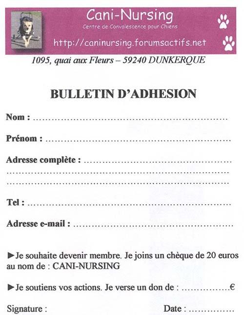 Bulletin d'Adhésion / Don Bullet12
