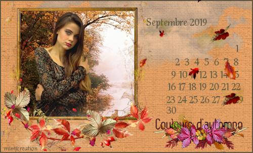 defi calendrier de septembre 2019 Calend20