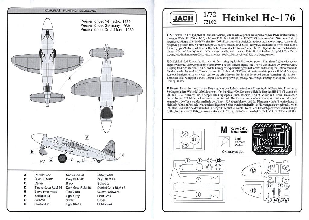 Heinkel He 176 - Le stylo fusée - (JACH #72102) He_17613