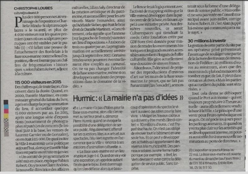 """BASE SOUS MARINE // VISION """"Bordeaux 2013"""" 2016-021"""