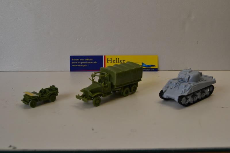 """La 2ème DB """"Jeep - GMC CCKW353 - Sherman M4a2""""  [Heller 1/72] Dsc_0242"""