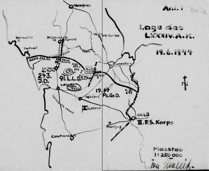 Kampfgruppe Heintz en Normandie Lxxxiv11