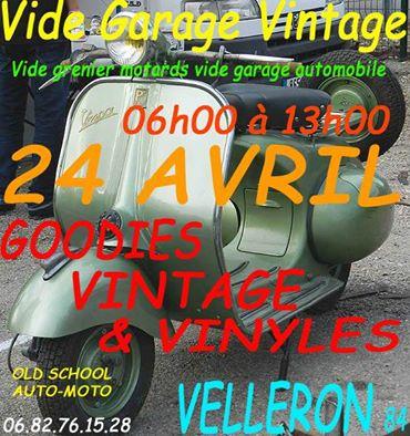 velleron 84 vide garage vintage 24 avril 13007110