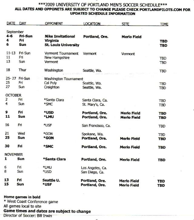 Men's 2009 Schedule Pictur10