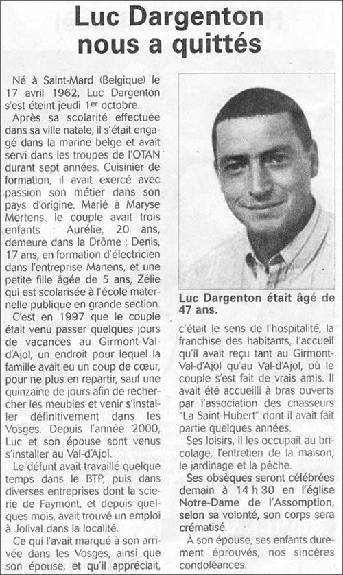 Déces - Overlijden (1) - Page 7 Luc_da10