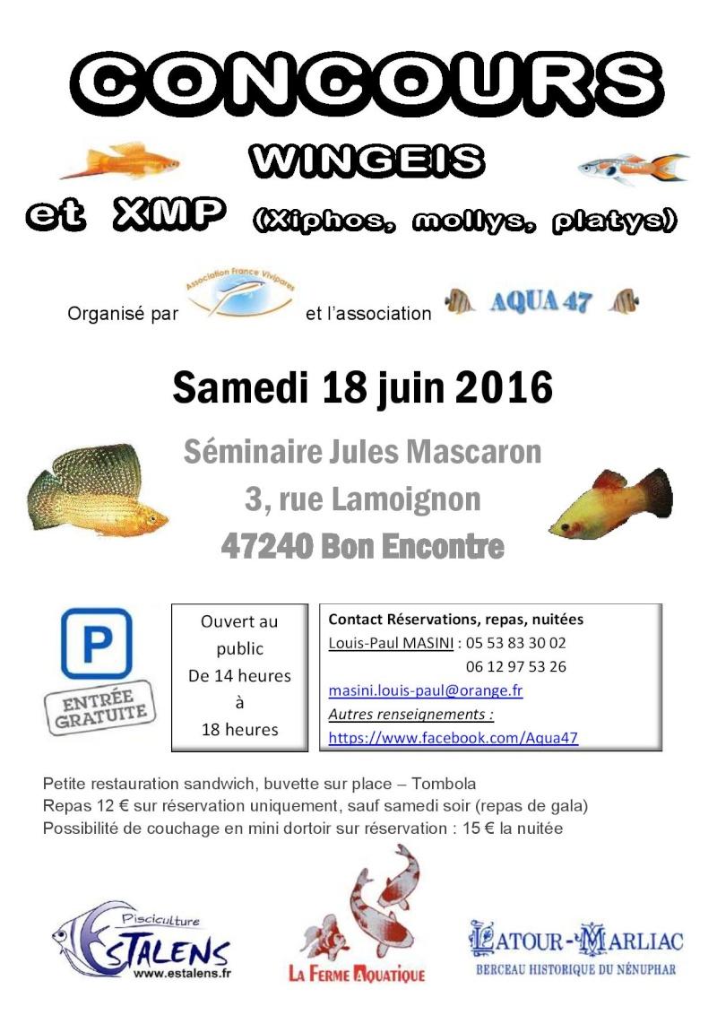 concours wingeis et XMP  et bourse  du 18 et 19 juin 2016 Affich15