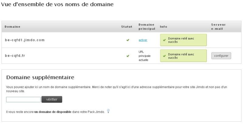 """domaine - JimdoBusiness """"Vous n'avez pas de domaine pour créer un compte e-mail"""" Domain10"""