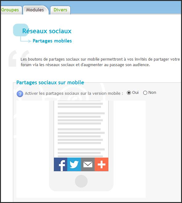 Partages sociaux sur la version mobile 13-04-10