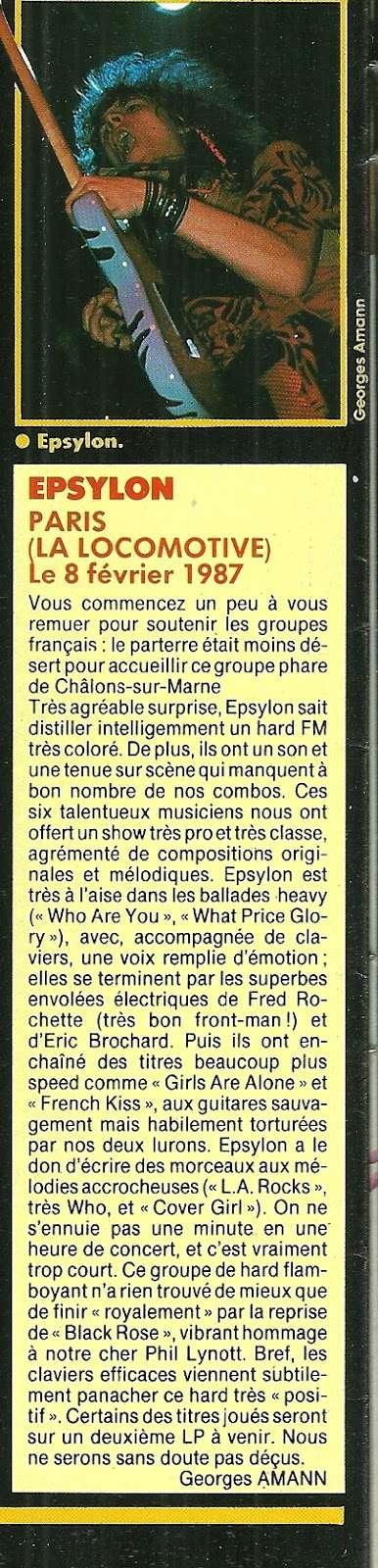 EPSYLON live à Paris LA LOCOMOTIVE le 8 février 1987 (article) Epsylo10