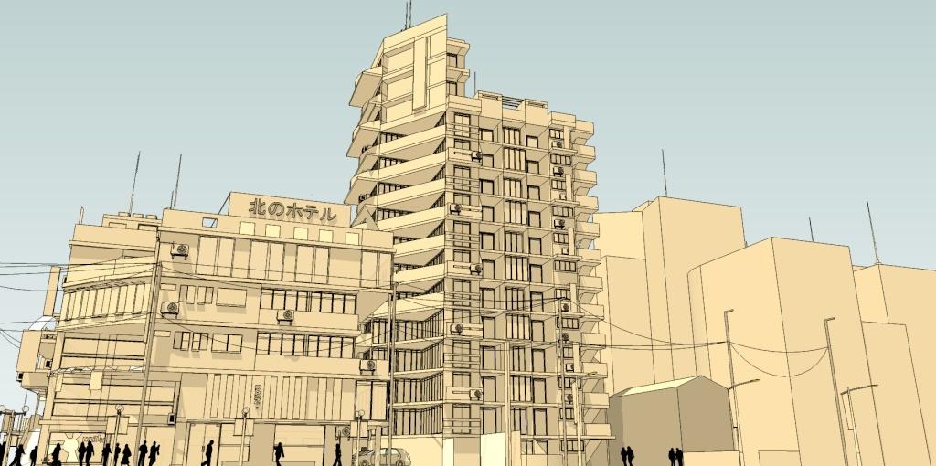 SketchUp'eur architecte -AnthO'- - Page 5 Hotel_13
