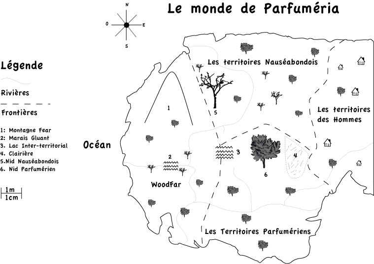 Carte le monde de Parfuméria Cartep12