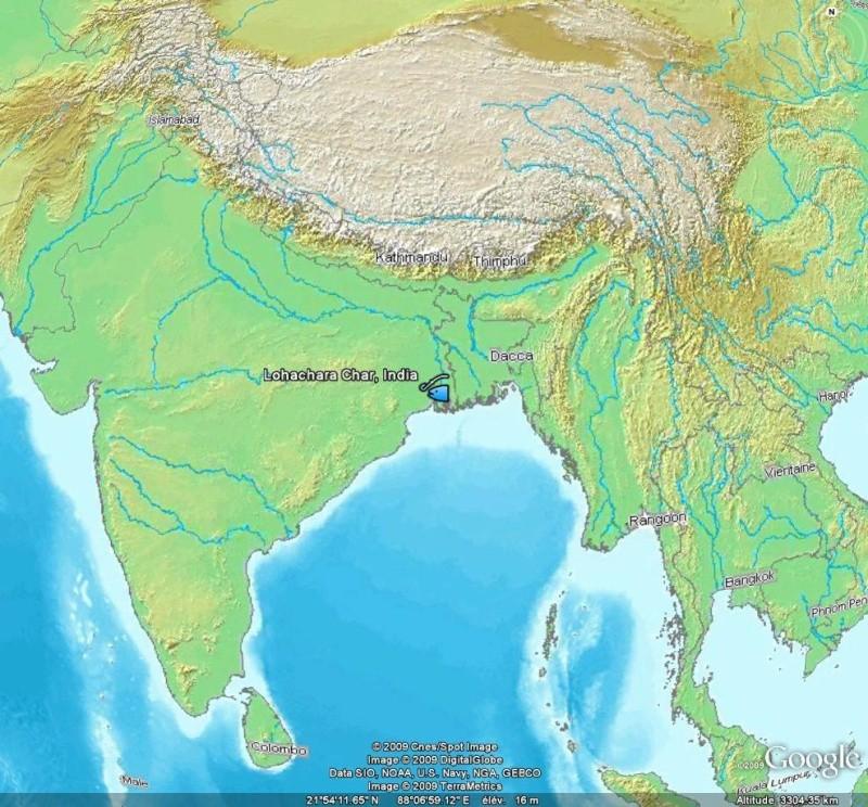 Ile disparue - Lohachara - Delta du Gange - Inde L10